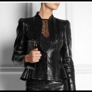 Authentic GUCCI peplum snakeskin jacket